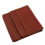 کیف چرم طبیعی قهوه ای روشن مدل جیبی