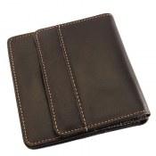 کیف چرم طبیعی قهوه ای تیره مدل جیبی