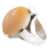 انگشتر نقره اپال زیبا درشت و فاخر مردانه