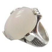 انگشتر نقره اپال درشت ارزشمند طرح کلاسیک مردانه