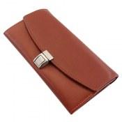 کیف چرم طبیعی کلاسیک رنگ عسلی