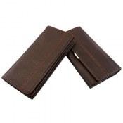 کیف چرم طبیعی ست قهوه ای تیره