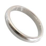 حلقه ازدواج نقره رینگی باریک مردانه