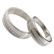 حلقه ازدواج نقره طرح اریب