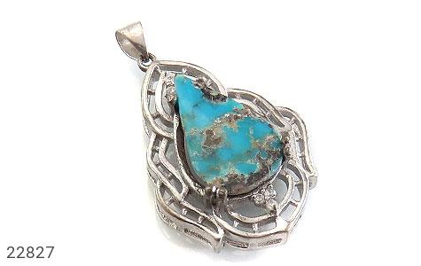 عکس مدال فیروزه نیشابوری درشت طرح ارغوان زنانه