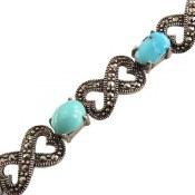 دستبند فیروزه نیشابوری طرح محبوب و فاخر زنانه