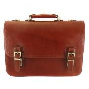 کیف چرم طبیعی دیپلمات قهوه ای طرح کاوه