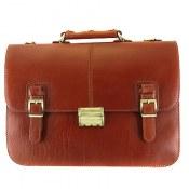 کیف چرم طبیعی دیپلمات قهوه ای