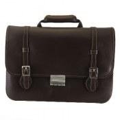 کیف چرم طبیعی قهوه ای تیره طرح دیپلمات