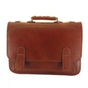 کیف چرم طبیعی دیپلمات قهوه ای طرح آریا