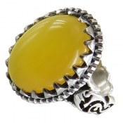 انگشتر نقره عقیق شرف الشمس رکاب یاعلی درشت مردانه