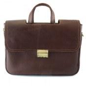 کیف چرم طبیعی طرح کلاسیک قهوه ای تیره