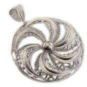 مدال نقره ملیله درشت طرح هورتاش زنانه