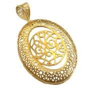 مدال نقره ملیله طرح ارغوان زنانه