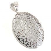 مدال نقره ملیله طرح مشبک زنانه