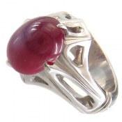 انگشتر نقره یاقوت سنتاتیک دامله مردانه