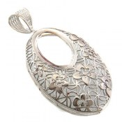 مدال نقره ملیله درشت طرح مهگل زنانه