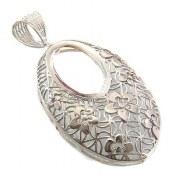 مدال نقره ملیله درشت طرح مهگل