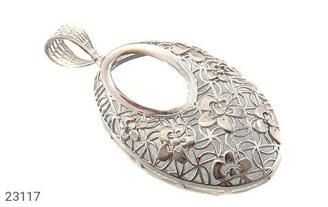 عکس مدال نقره ملیله درشت طرح مهگل زنانه