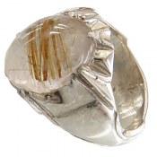 انگشتر نقره در مویی درشت و جذاب مردانه