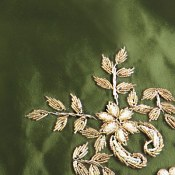 ترمه جانماز مخمل سبز طرح بهاری