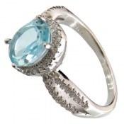 انگشتر توپاز آبی طرح غزاله زنانه