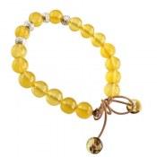 دستبند جید زرد جذاب زنانه