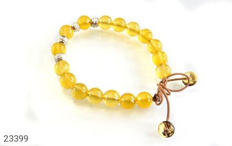عکس دستبند جید زرد جذاب زنانه