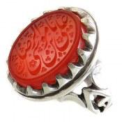 انگشتر نقره عقیق یمنی یا علی ابن موسی الرضا المرتضی مردانه