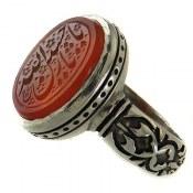 انگشتر نقره عقیق یمن یا حسین ثارالله مردانه