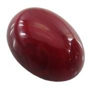 نگین تک عقیق قرمز سایز متوسط