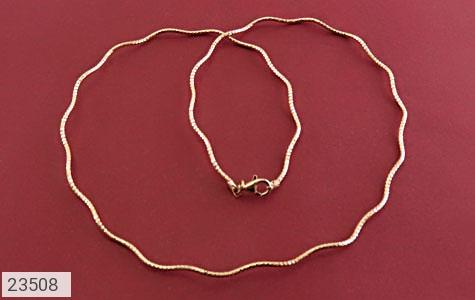زنجیر نقره 45 سانتی طوق گردنی طرح هلالی زنانه - 23508