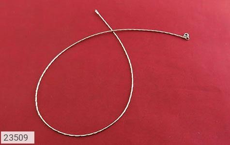 عکس زنجیر نقره طوق گردنی طرح کلاسیک زنانه