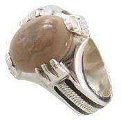 انگشتر نقره اپال مرغوب مردانه