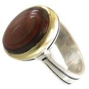 انگشتر نقره عقیق خوش رنگ یمنی مردانه