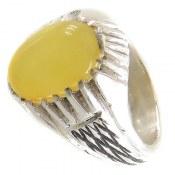 انگشتر عقیق زرد شرف الشمس طرح رحمان مردانه