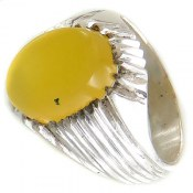 انگشتر عقیق زرد شرف الشمس طرح صابر مردانه