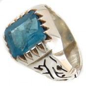انگشتر نقره توپاز خوش رنگ مردانه
