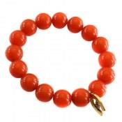دستبند کهربا پودری درشت و زیبا زنانه