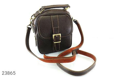 عکس کیف چرم طبیعی دوشی یا دستی اسپرت قهوه ای تیره