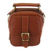 کیف چرم طبیعی دستی یا دوشی اسپرت قهوه ای روشن