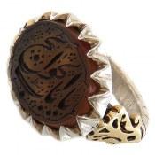 انگشتر نقره عقیق یمن یا باب الحوائج مردانه