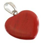 مدال جاسپر قرمز طرح قلب زنانه
