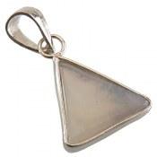 مدال نقره عقیق شجر مثلثی زیبا