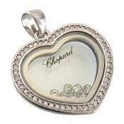 مدال نقره قلب نگین متحرک زنانه