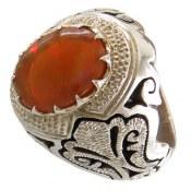 انگشتر نقره اپال اشرافی و خوش رنگ مردانه