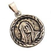 مدال نقره شمایل سیاه قلم