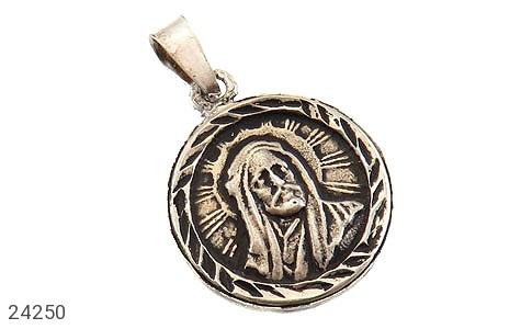 مدال نقره شمایل سیاه قلم - 24250