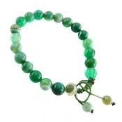 دستبند عقیق سبز زنانه