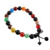 دستبند عقیق ام البنین رنگارنگ زنانه